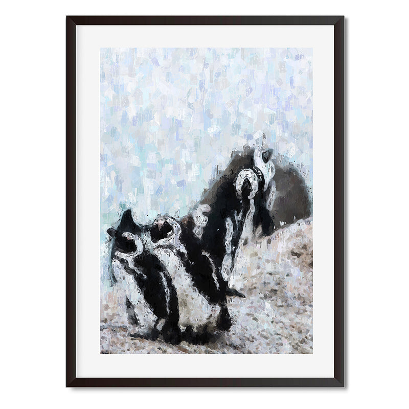 Penguin Oil Painting Wall Art Print - Mode Prints