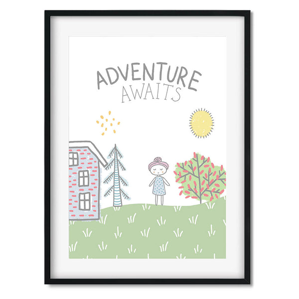 Adventure Awaits Wall Art Print