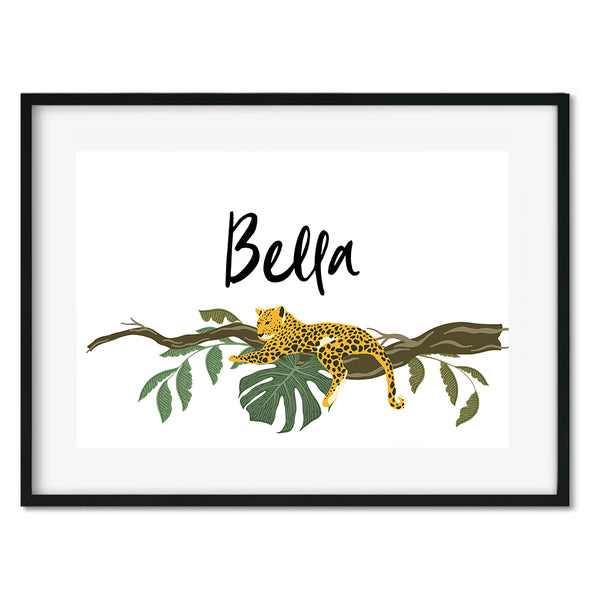 Personalised Tiger Wall Art Print