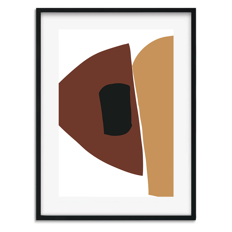 Burnt Orange Shapes 2 Wall Art Print - Mode Prints