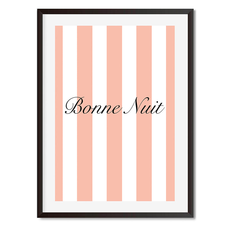 Bonne Nuit Pastel French Wall Art Print - Mode Prints