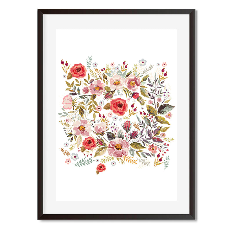 Floral Elegance Wall Art Print - Mode Prints