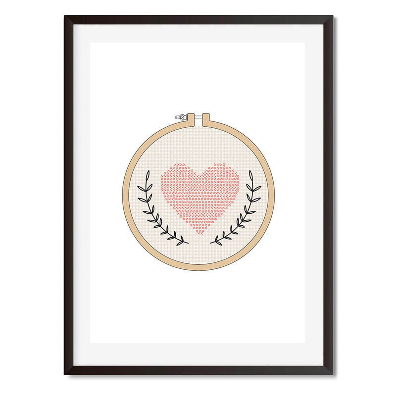 Knitted Compact Mirror Wall Art Print - Mode Prints