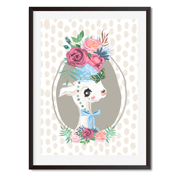 Portrait Oh My Llama Wall Art Print - Mode Prints