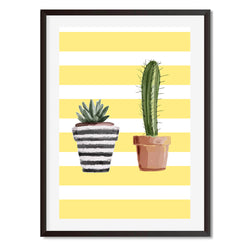 Cactus Yellow Print 2 Wall Art Print - Mode Prints