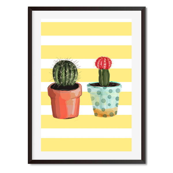 Cactus Yellow Print Wall Art Print - Mode Prints