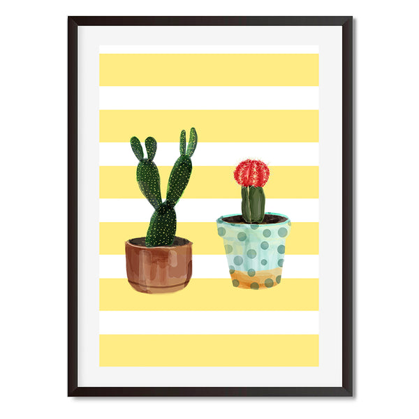 Cactus Yellow Print 3 Wall Art Print - Mode Prints
