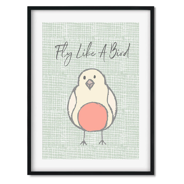 Fly Like A Bird Wall Art Print
