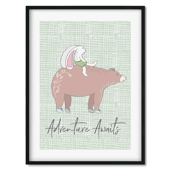 Adventure Awaits 2 Wall Art Print