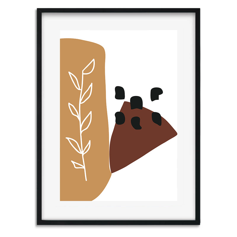 Burnt Orange Shapes Wall Art Print - Mode Prints