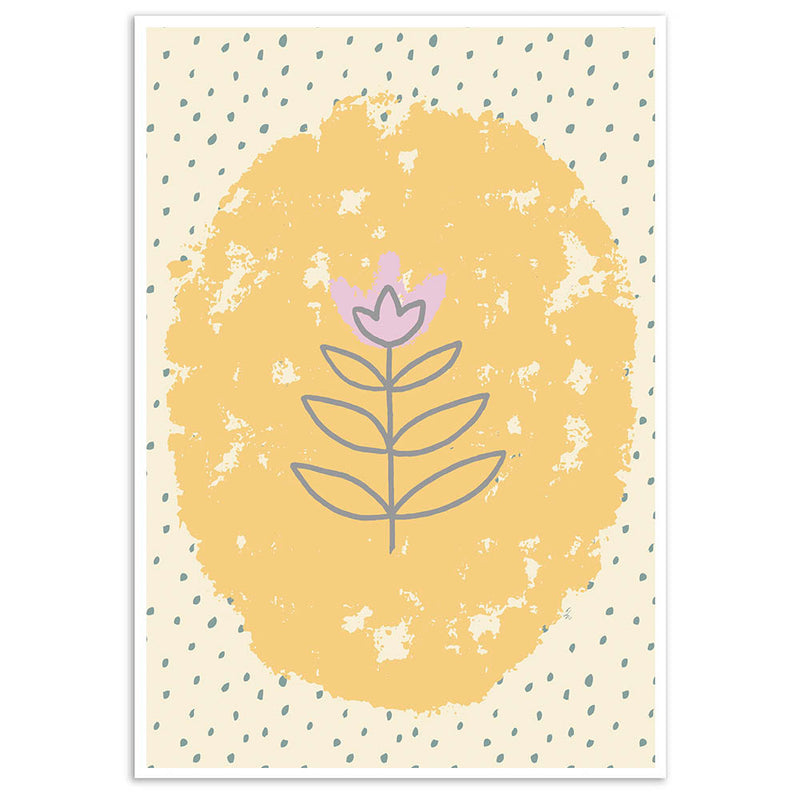 Floral Folk Wall Art Print