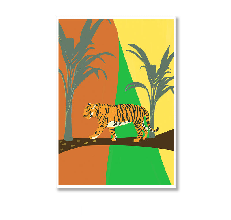 Bold Jungle Tiger Wall Art Print - Mode Prints