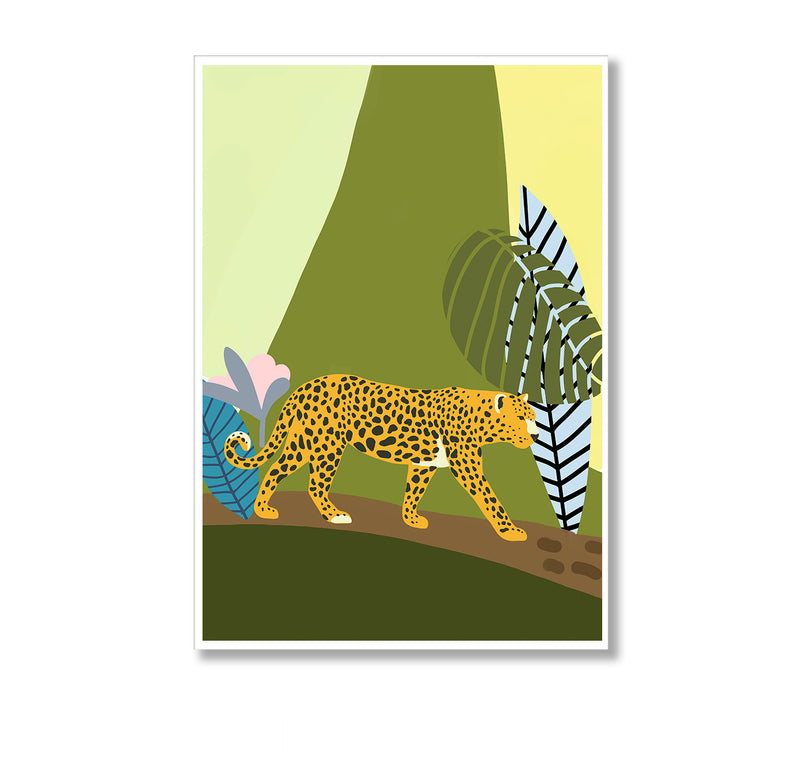 Jungle Leopard Wall Art Print - Mode Prints