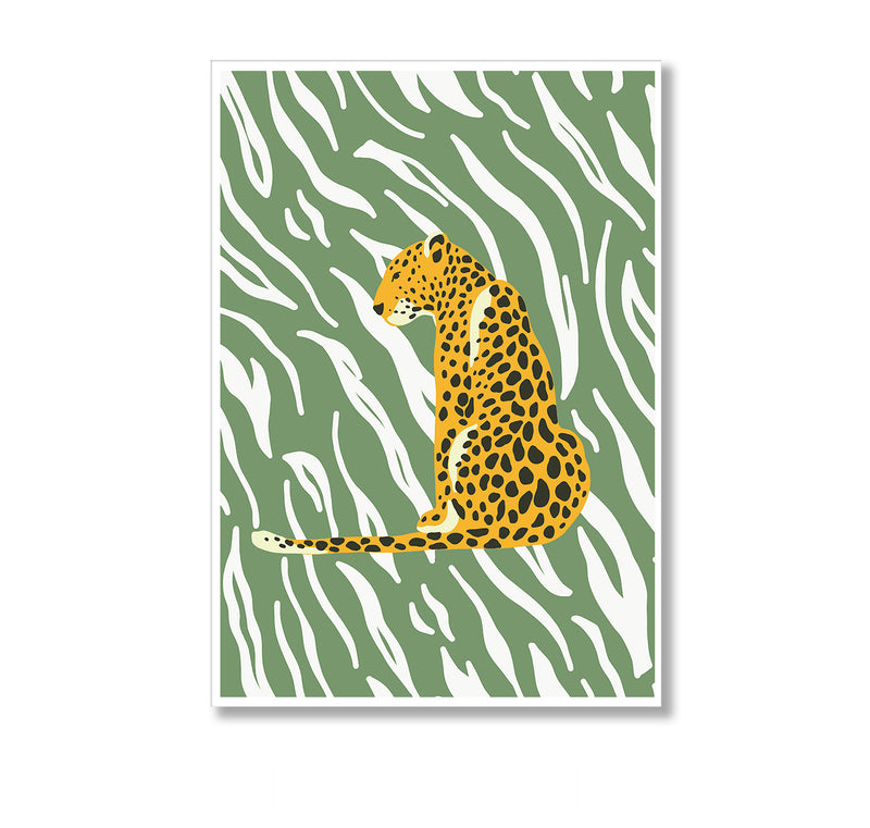 Botanical Leopard Wall Art Print - Mode Prints