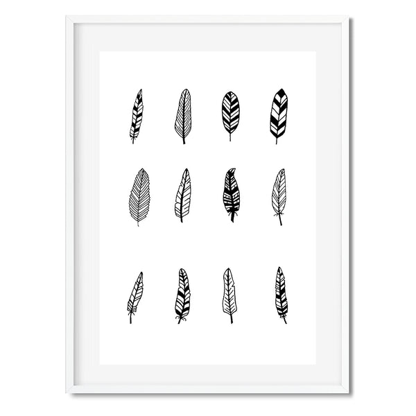 Black Feathers Wall Art Print - Mode Prints