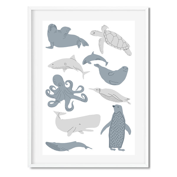 Underwater Creatures 2 Wall Art Print