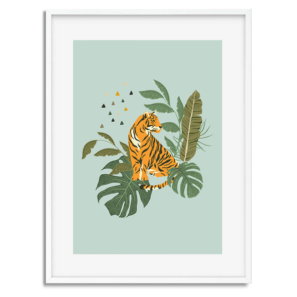 Tiger Tropical Jungle Wall Art Print