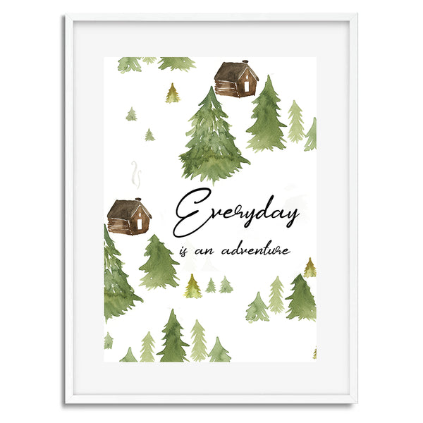 Everyday Is An Adventure Camping Wall Art Print - Mode Prints