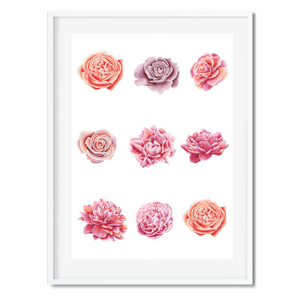 9 Roses Wall Art Print - Mode Prints