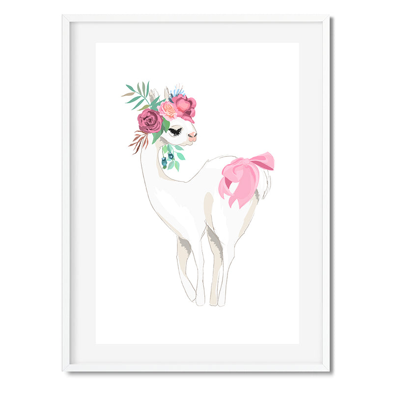 Botanical Oh My Llama Wall Art Print - Mode Prints