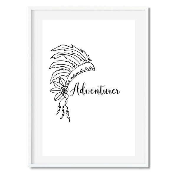 Boho Adventurer Wall Art Print - Mode Prints