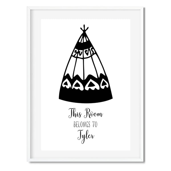 Personalised This Room Belongs To Art Print