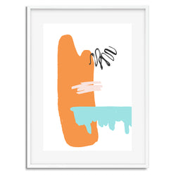 Burnt Orange Pop Colour Wall Art Print - Mode Prints