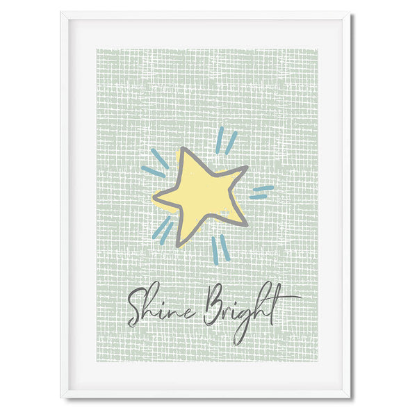 Shine Bright Star Wall Art Print