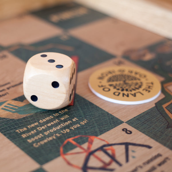 Board game showing Oak print Land of Oak and Iron