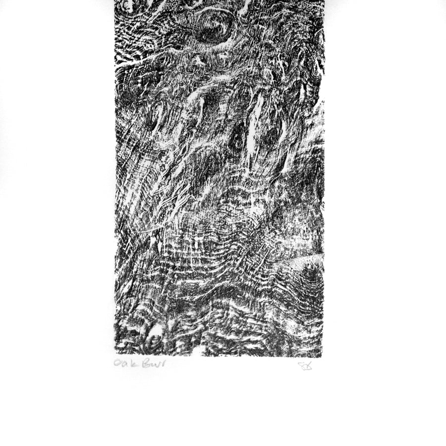 Relief Print Oak Burr (A)