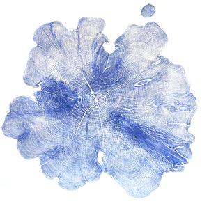 Relief Print Yew 1932-2018 (A) Ultramarine Ink