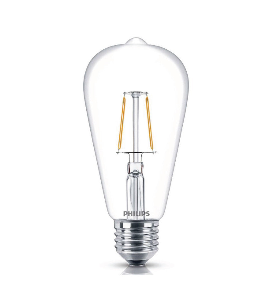 PHILIPS LED Fila 7.5-60W E27 WW ST64