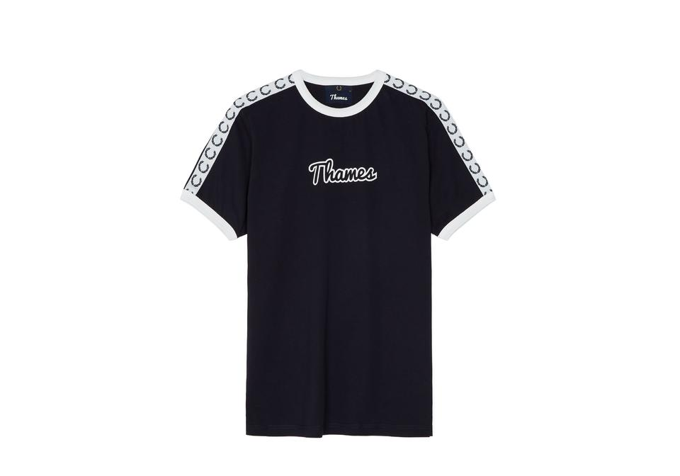 Fred Perry x Thames Taped Ringer T-Shirt Navy