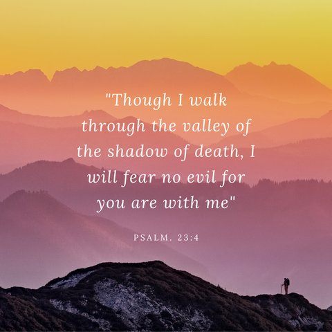 Psalm 23:4 Though I walk through the valley of the shadow of death