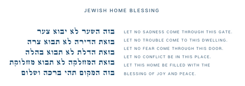 The text of the Jewish Home Blessing in English & Hebrew