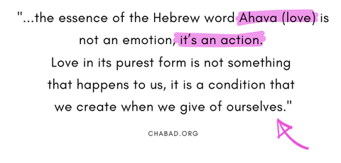 a lesson about love from the Hebrew language