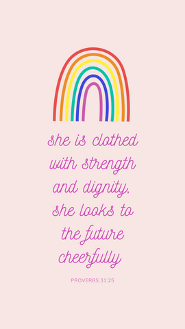 Proverbs 31:25 iPhone & Mobile Wallpaper Download