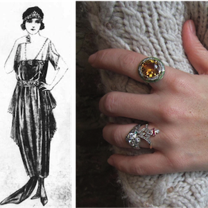 Art Deco Rings from Doyle & Doyle with 20's woman