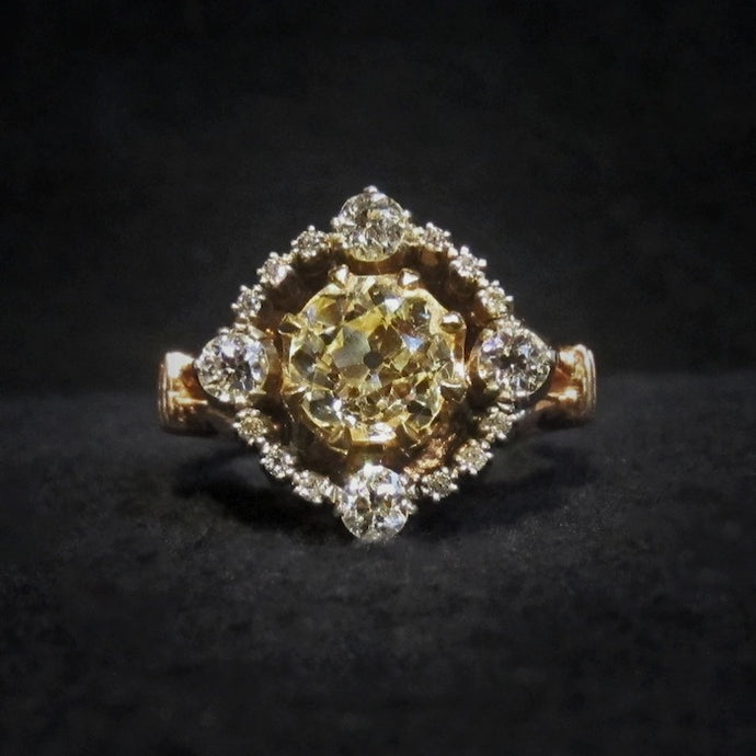 Dramatic Georgian Style Engagement Ring of the Week