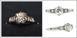 1940s old mine cut diamond engagement ring from Doyle & Doyle