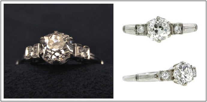 A Study in Contrasts: 1940s Engagement Ring of the Week