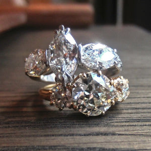 Two 3 Stone Diamond Engagement Rings from Doyle & Doyle
