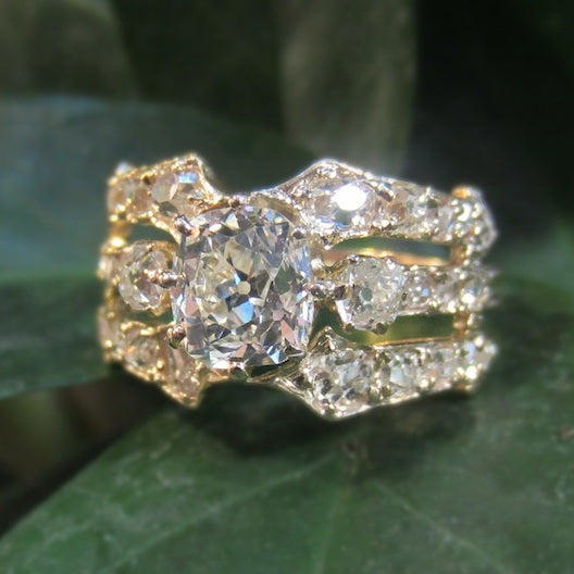 Gilded Splendor: 1890s French Antique Engagement Ring of the Week