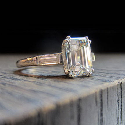 Engagement Ring of the Week: Emerald Cut Elegance