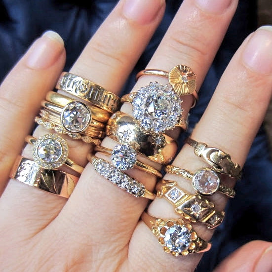 New Golden Diamond Rings, By the Handful!