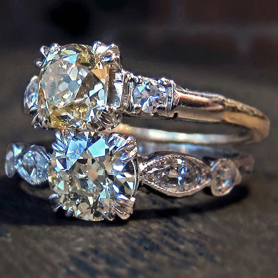 Yellow Diamond Duo: Engagement Ring(s!) of the Week