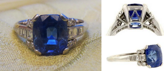 Art Deco Sapphire Engagement Ring of the Week