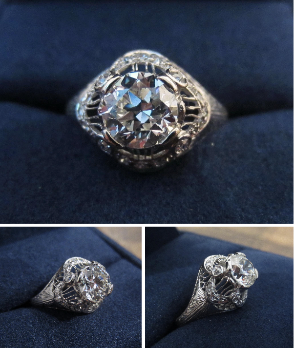Lovely Edwardian Engagement Ring of the Week