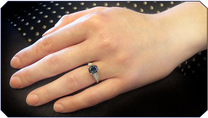 True Blue Engagement Ring of the Week