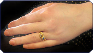 Victorian Double Snake Ring